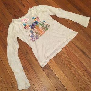 Fresh Karma cream graphic Sweater Shirt Top